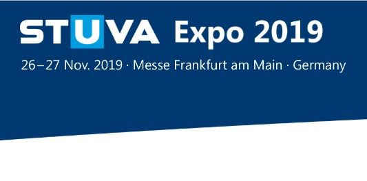 Showing the logo of the exhibition STUVA Expo 2019